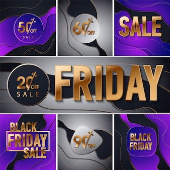 Black friday sale gold glitter background.