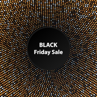 Black friday sale on the gold label background