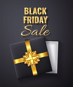 Черная пятница распродажа golden glitter sparkle