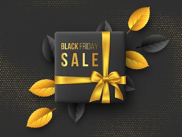 Black friday sale horizontal poster or banner.