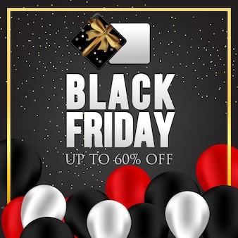 Black friday sale illustration.