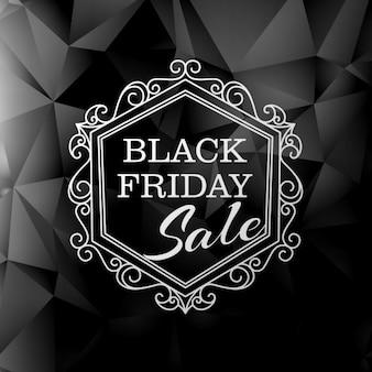 빈티지 플로랄 스타일의 검은 금요일 판매