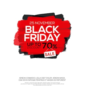 Black friday sale inscription on abstract ink blots