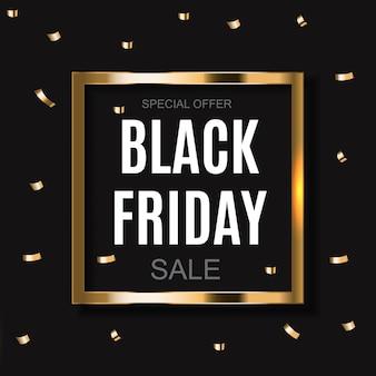 Black friday sale inscription banner design template. vector illustration
