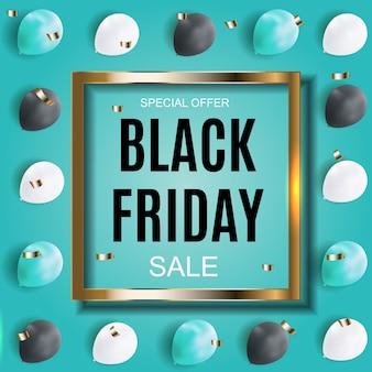 Black friday sale inscription banner design template