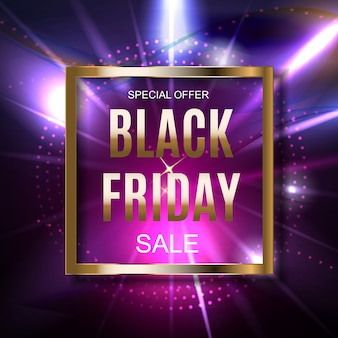 Black friday sale inscription banner design template