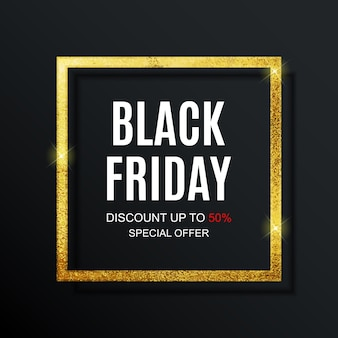 Black friday sale inscription banner  template.