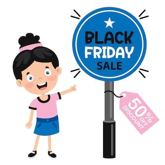 Черная пятница продажа надпись дизайн шаблона