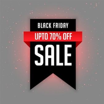 Black friday sale label with offer details
