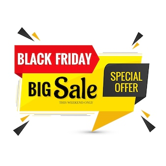 Design di banner etichetta di vendita venerdì nero