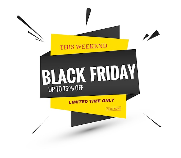 Black friday sale lable banner design