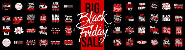 Black friday sale lable tag set
