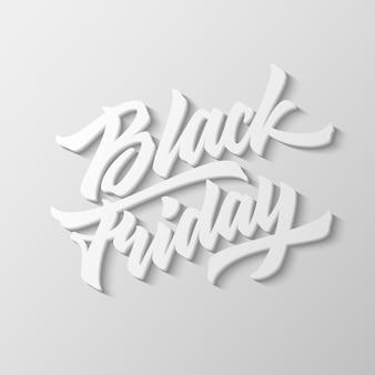 Black friday sale lettering 3d. Premium Vector