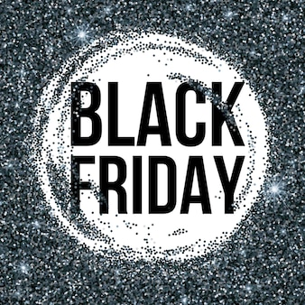 Black friday sale lettering background. template for your design, invitation, flyer, card, gift, voucher, certificate and poster. vector illustration eps10