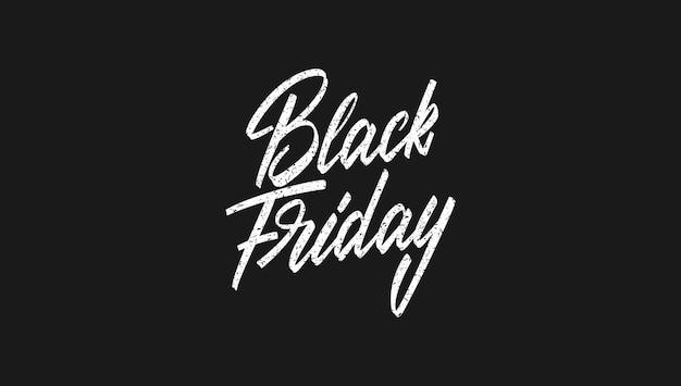 Black friday sale lettering design.