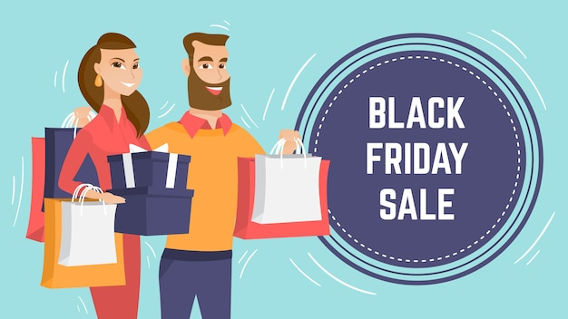 Black friday sale modern poster template.
