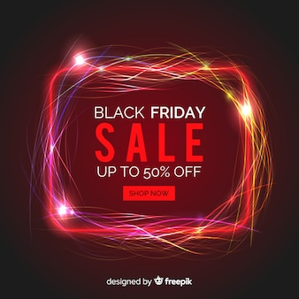 Black friday sale neon background