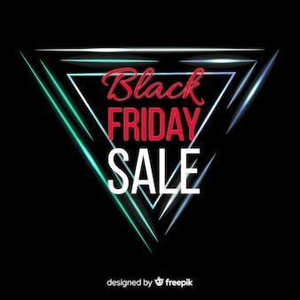 Black friday sale neon background