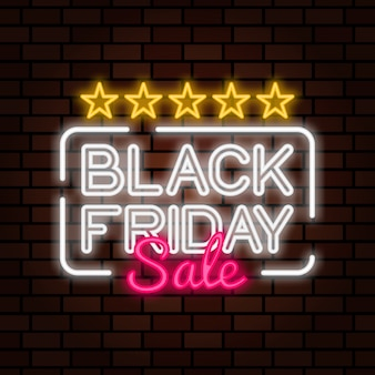 Black friday sale neon sign