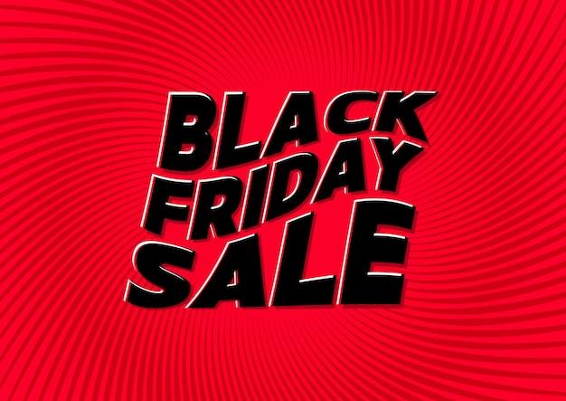 빨간색 배경에 검은 금요일 판매입니다. 쇼핑, 판매, 제품 홍보를 위한 소셜 미디어 웹 배너입니다.