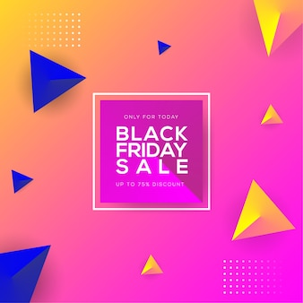삼각형 그라데이션 스트로크로 오늘만 검은 금요일 판매