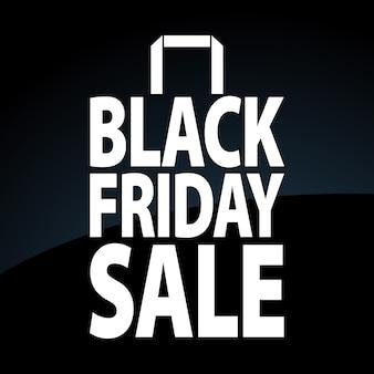 Black friday sale paper bag.