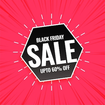 Black friday sale pink background design