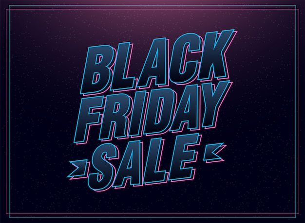 Black friday sale pink and blue italic letters
