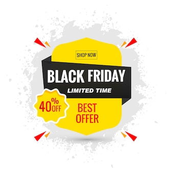 Black friday sale poster layout