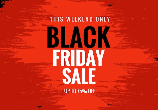 Black friday sale for poster layout