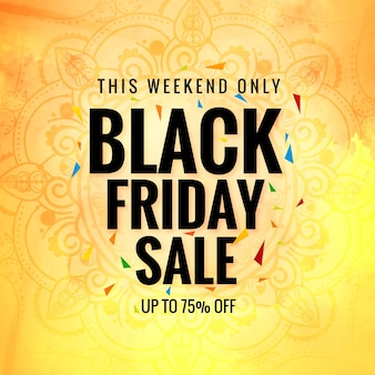 Black friday sale poster for watercolor