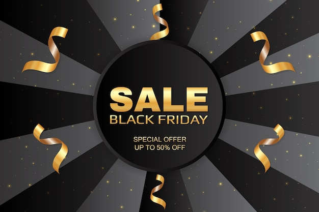 Черная пятница продажа продвижение абстрактный праздничный баннер шаблон.