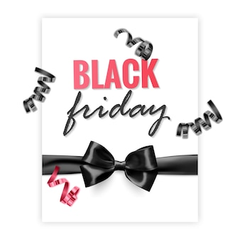Black friday sale promotion poster or banner in black and red style promotion and shopping template