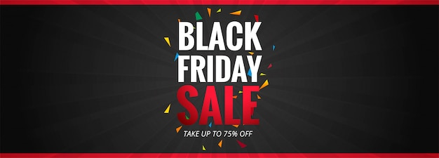 Black friday sale promotion poster or banner template