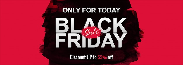 Black friday sale promotion poster or banner