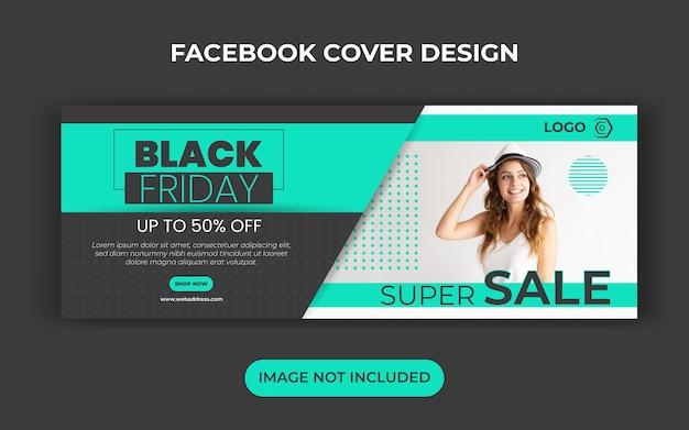Black friday sale social media banner template