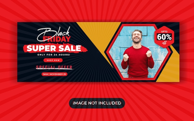 Black friday sale social media banner template