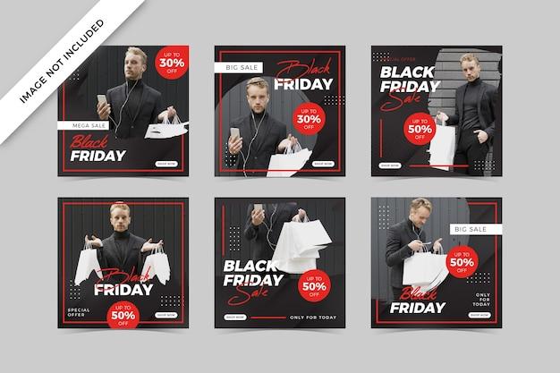 Сообщение о распродаже черной пятницы в социальных сетях