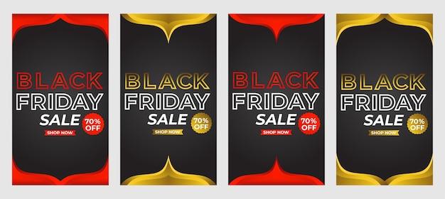 블랙 프라이데이 세일 소셜 미디어 스토리 프로모션 컬렉션