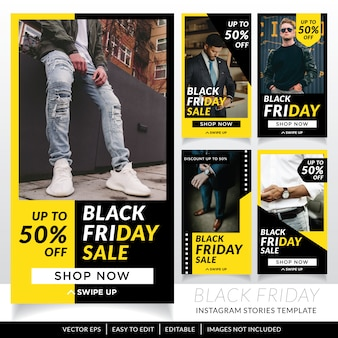 Black friday sale social media stories template