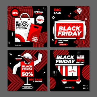 Black friday sale special offer / discount instagram post