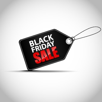 Black friday sale sticker label isolated