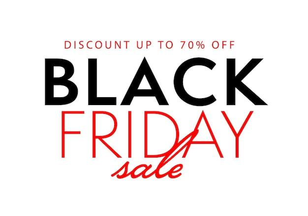 Стикер распродажи в черную пятницу предлагает скидку до 70%