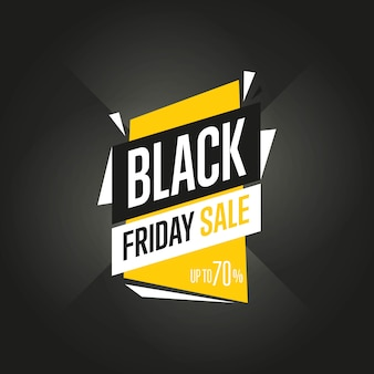 Black friday sale sticker vector isolated