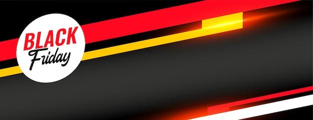 Banner pubblicitario web elegante di vendita venerdì nero