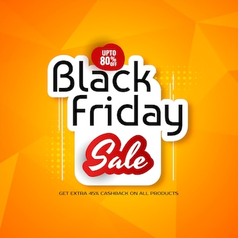 Black friday sale stylish yellow background
