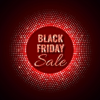 네온 스타일의 검은 금요일 판매 기술 배경