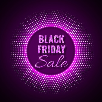 Black friday sale technology background in neon style