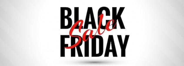 Modello di vendita del black friday per banner