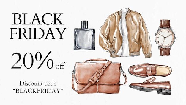 Vettore del modello di vendita del black friday per banner blog